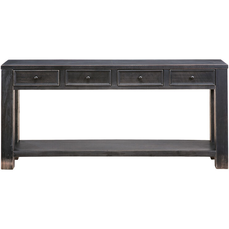 Gavelston Black 4 Drawer Console Table