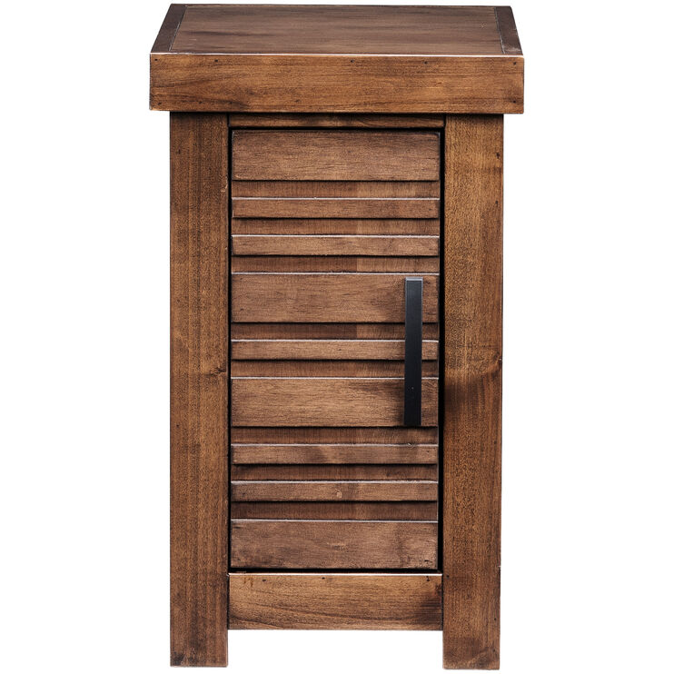 Sausalito Brown Storage Chairside Table