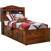 Barchan Full Bookcase Captains Bed