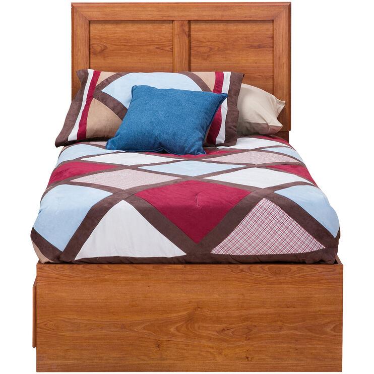 Jacob Oak Twin Panel Captains Bed