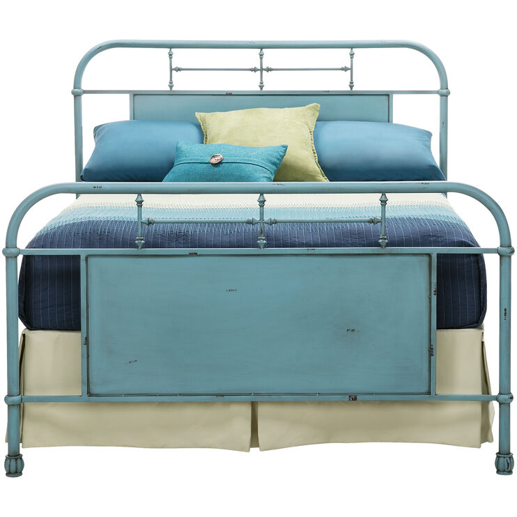 Vintage Blue Queen Bed