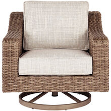 Beachcroft Beige Swivel Lounge Chair