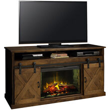 Farmhouse Aged Whiskey 66 Inch Fireplace Console