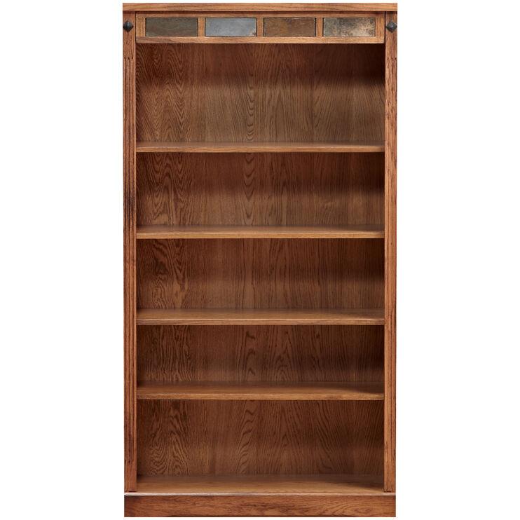 Slumberland Furniture Sante Fe 60 Inch Rustic Oak Bookcase