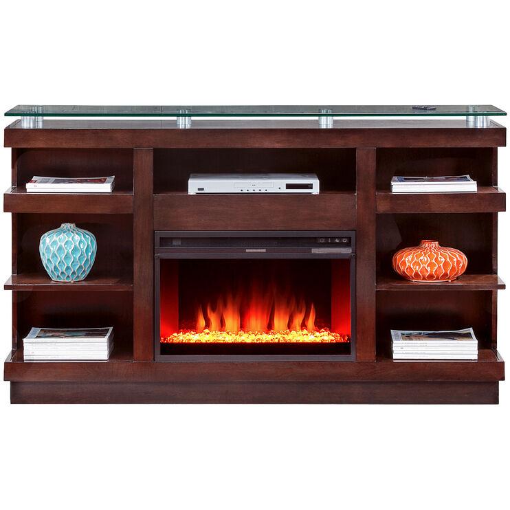 Novella Chocolate Fireplace Console