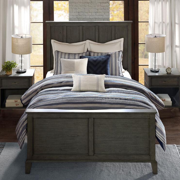 Farmhouse Blue 8Pc King Comforter Set