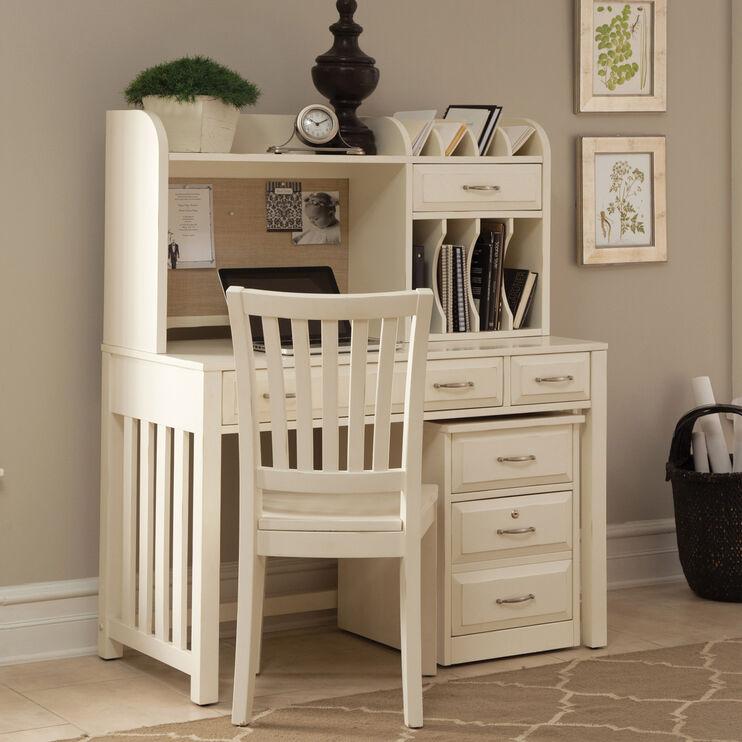 Hampton Bay White Desk with Hutch