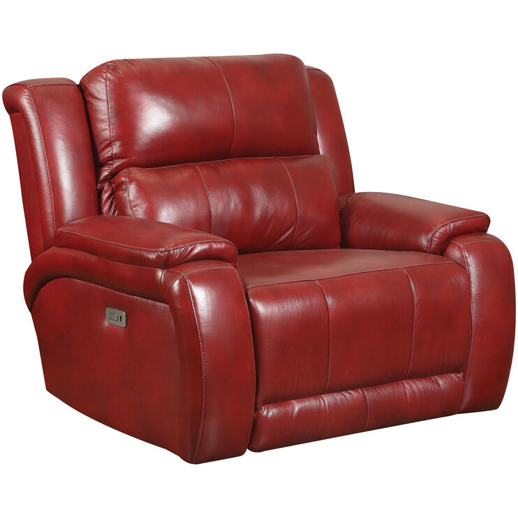 Marquis Leather Marsala Power Recliner