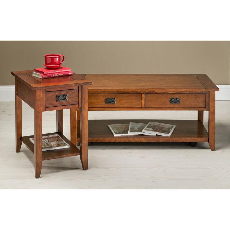 Rutledge Oak Chairside Table