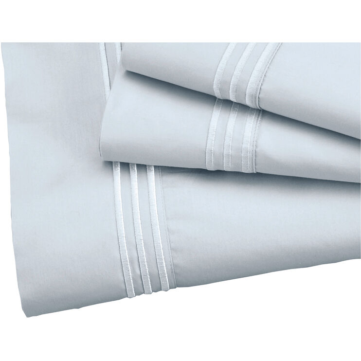 Elements Queen Light Blue Supima Pillowcases
