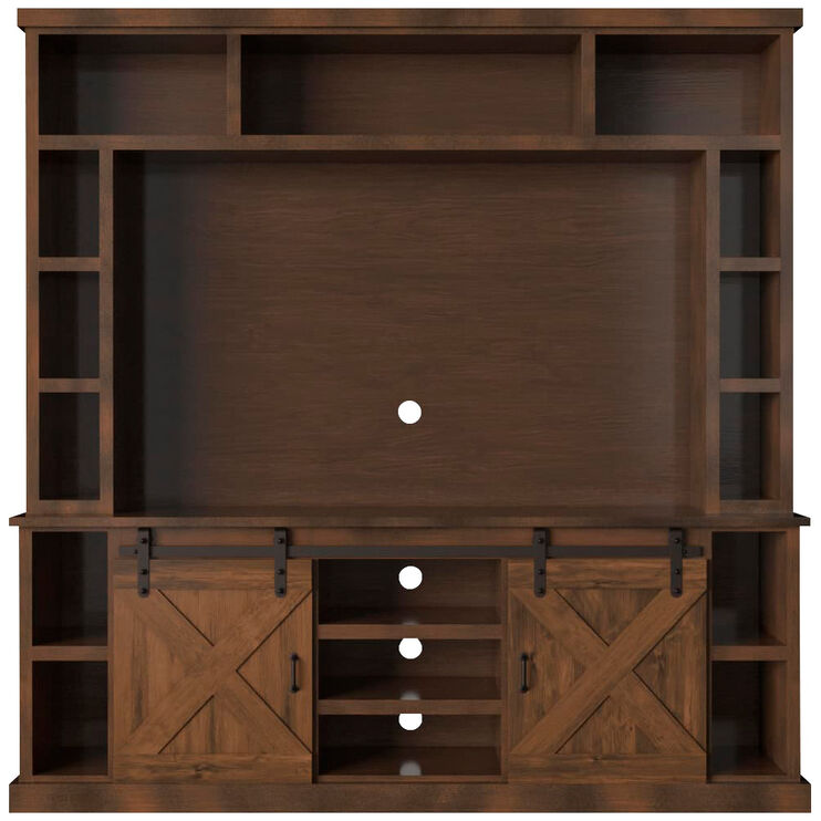Farmhouse Aged Whiskey 2 Piece Hutch and Console