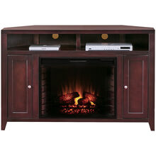 Lockwood Mocha Corner Fireplace Console