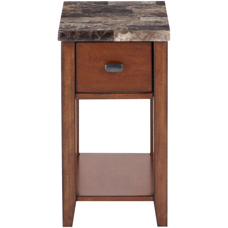Theo Brown Chairside Table