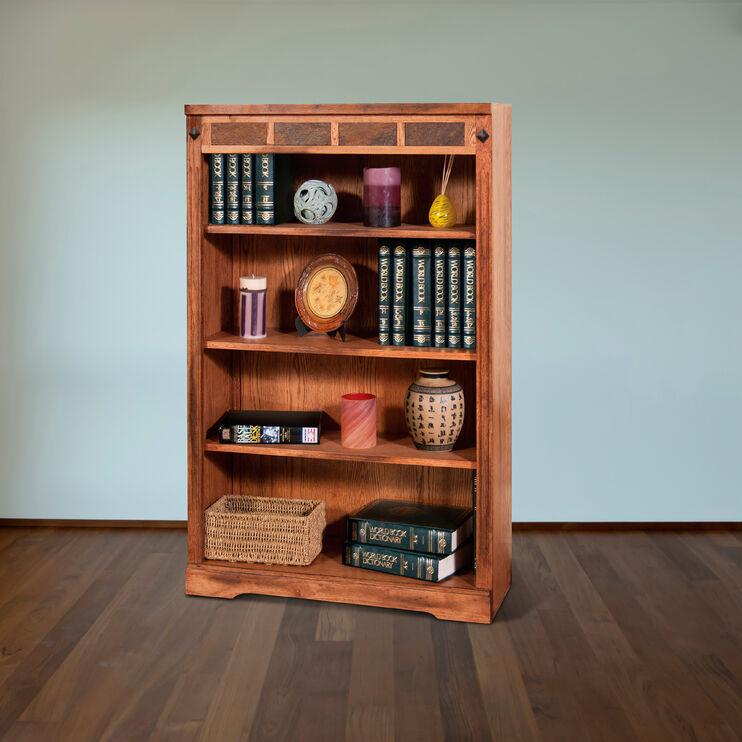 Sante Fe 48 Inch Rustic Oak Bookcase