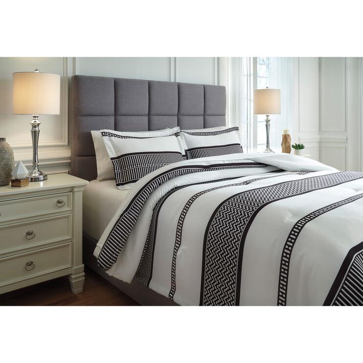 Masako Black and Cream Queen Comforter