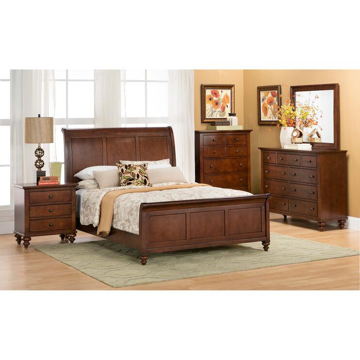 Hampton Court Cinnamon Queen Bed