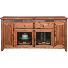Evanston Antique Oak 72 Inch Door Console
