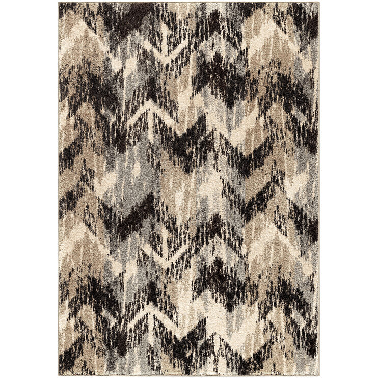 Heritage Distressed Chevron 8 x 11 Rug