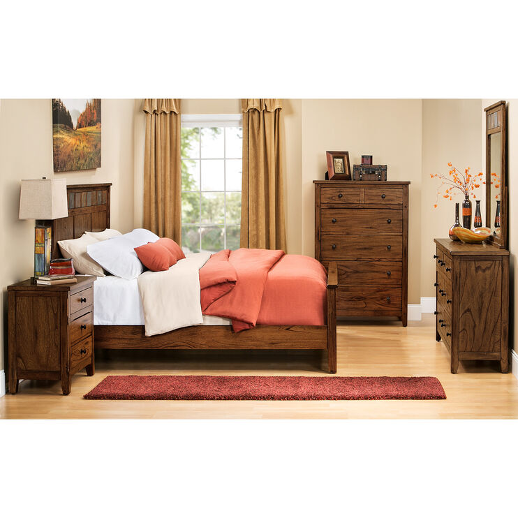 Sante Fe Chocolate Queen Panel Bed