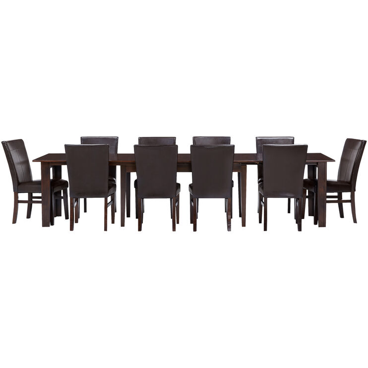 Kona Raisin 11 Piece Parson Dining Set
