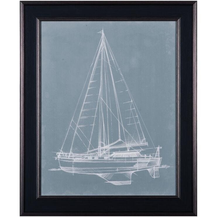 Yacht Sketches I Framed Art