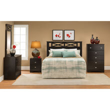 Tyler Merlot 4 Piece Headboard Package
