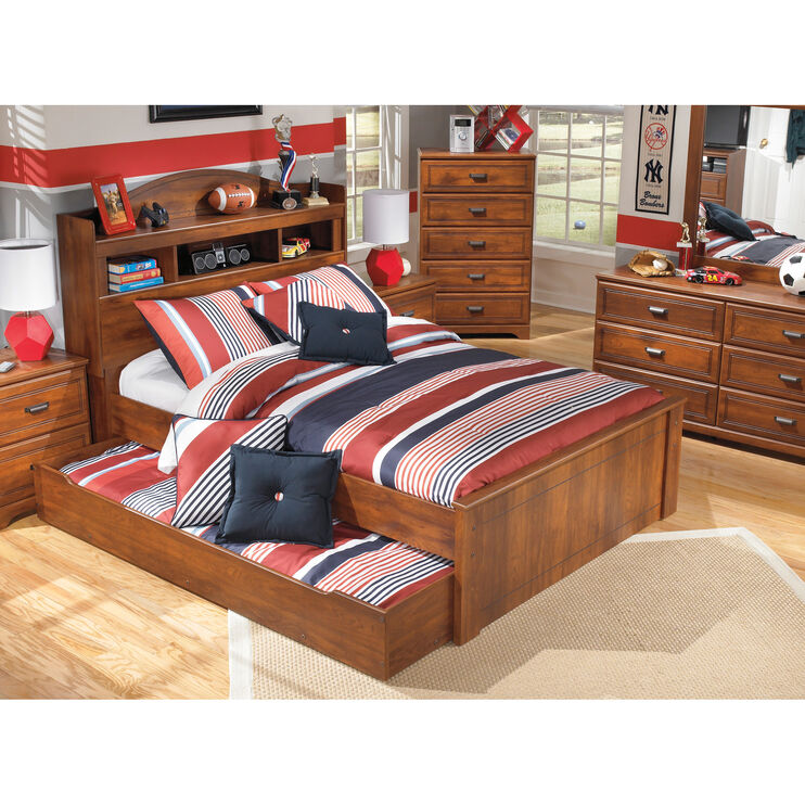 Barchan Brown Twin Trundle Bed