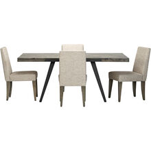 Uptown Gray 5 Piece Upholstered Dining Set