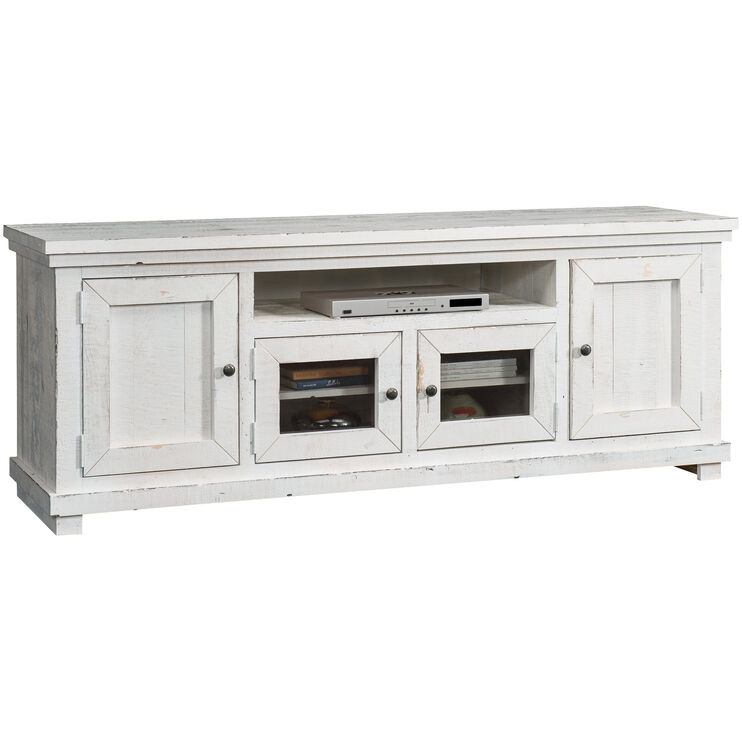 Willow Distressed White 74 Inch Console