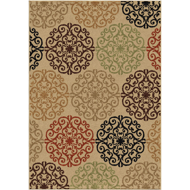 Four Seasons Catalina Beige 5 x 8 Rug