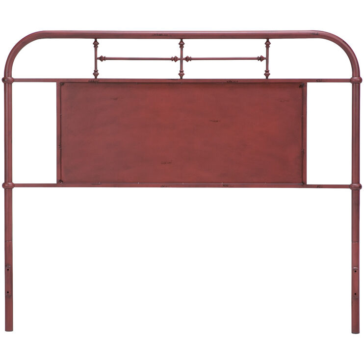 Vintage Red King Headboard
