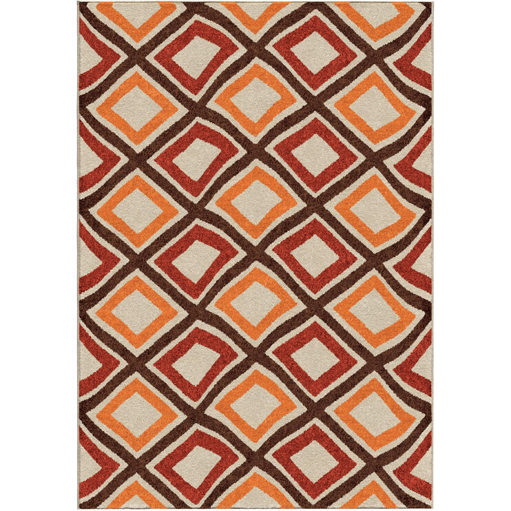 Veranda Broad Street Red 5 x 8 Rug