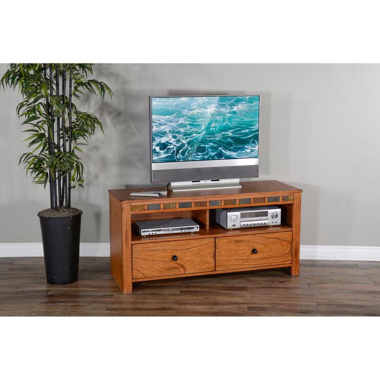 Sedona Rustic Oak 54 Inch TV Console