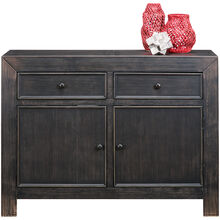 Gavelston Vintage Black Accent Console
