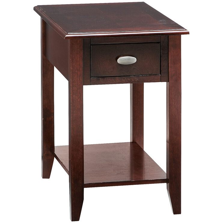 Radcliffe Merlot Chairside Table