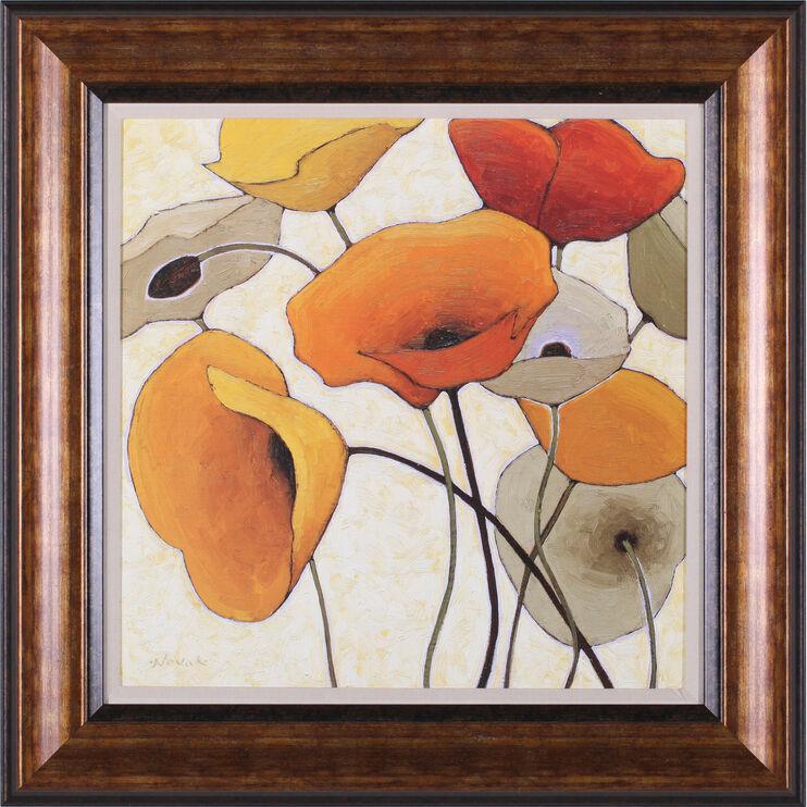 Pumpkin Poppies III Framed Art