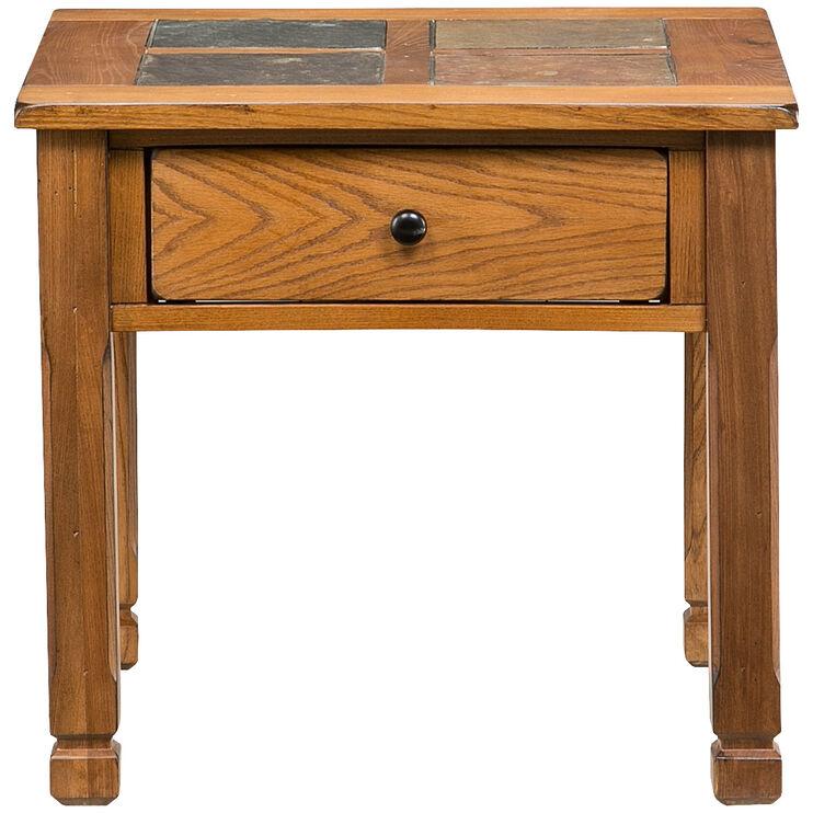 Rustic Ridge Oak End Table