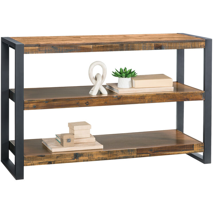 Loftworks Distressed Brown Console Table