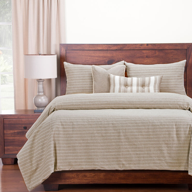 Burlap Queen 6 Piece Duvet Set