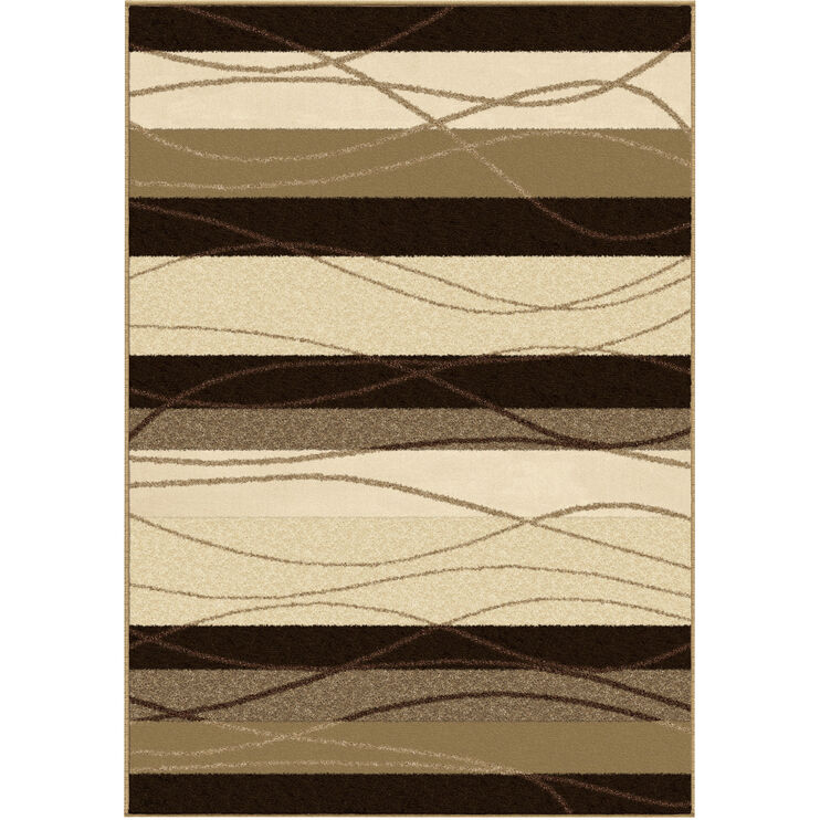 Four Seasons Tonal Stripe Brown 8 x 11 Rug