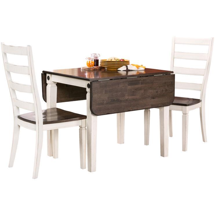 Slumberland Furniture Glennwood 3 Piece Antique White Dining Set