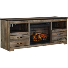 Trinell Brown 63 Inch Infrared Fireplace TV Stand