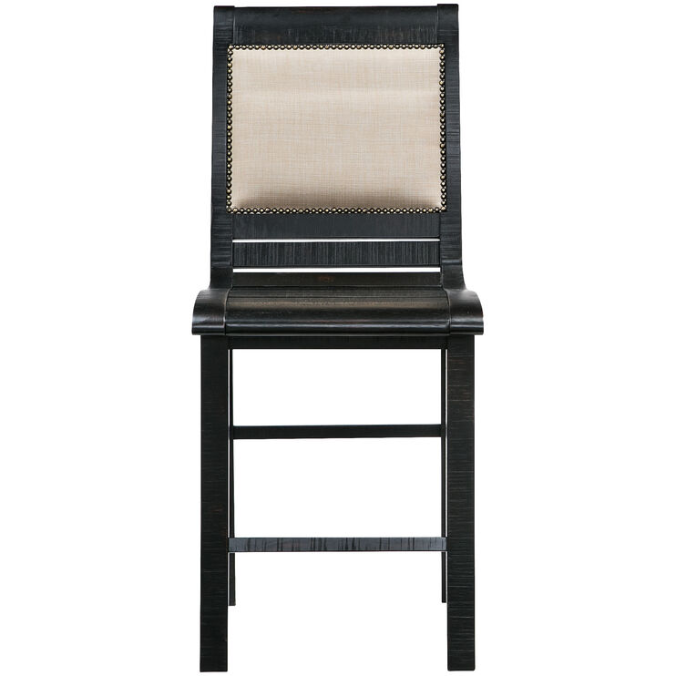 Willow Distressed Black Counter Chair