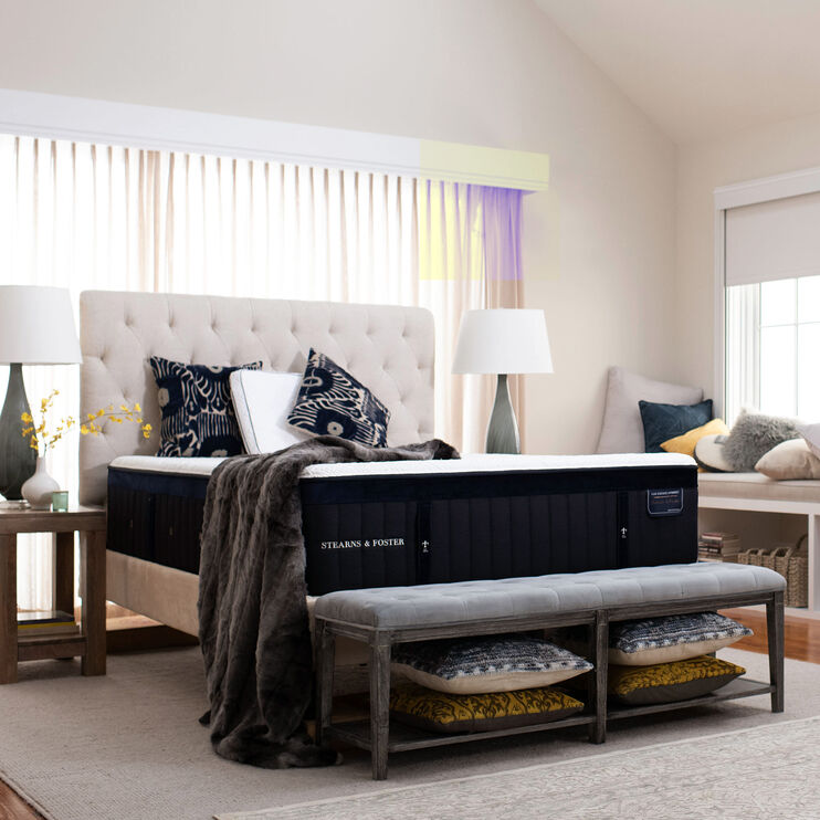 Hybrid Pollock Luxury Cushion Firm Velvet Top Sides Queen Mattress