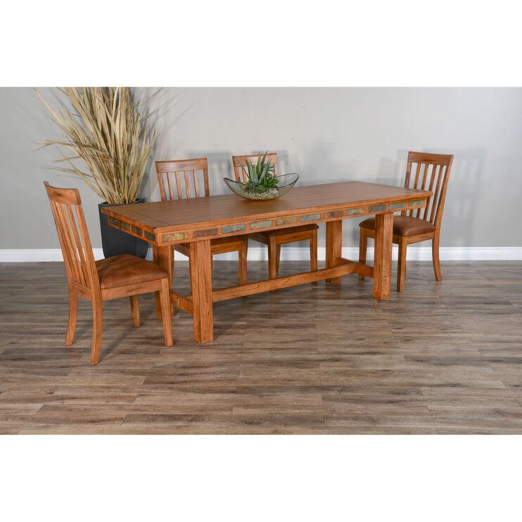 Sedona Rustic Oak 5 Piece Friendship Dining Set