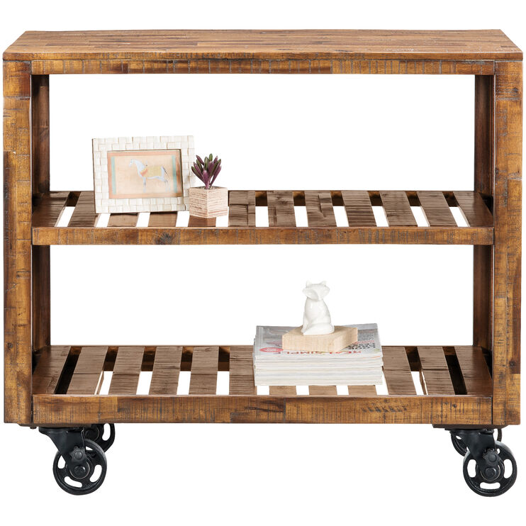 Loftworks Distressed Brown 36 Inch Cart