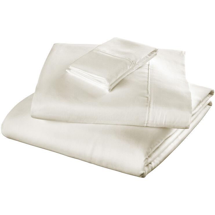 Fabrictech Ivory Queen Microfiber Lite Sheet Set