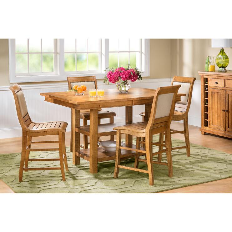 Willow Pine Rectangular Counter Set