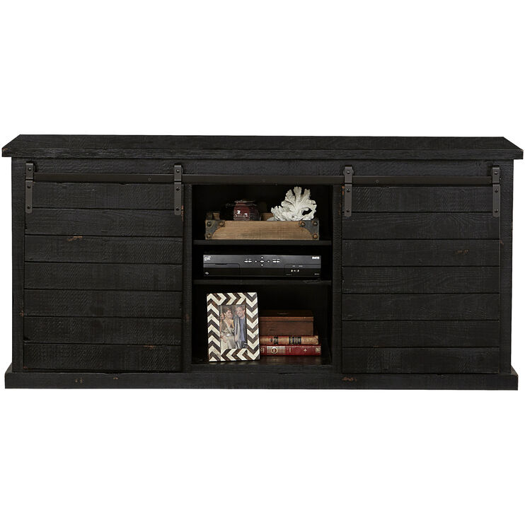 Keller Black Barn Door Console