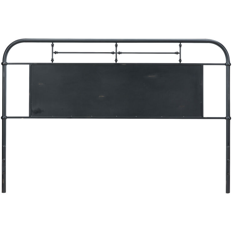 Vintage Black Queen Headboard
